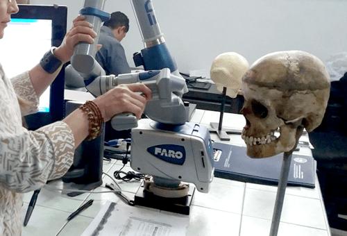 reconstruccion facial forense FARO en Fiscalia de Colombia zone 3d escaner